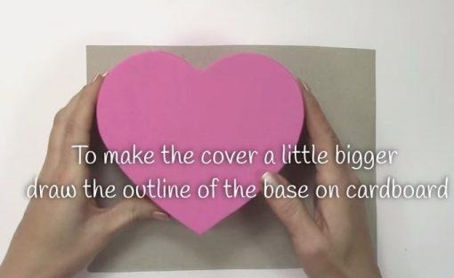 Cách làm hộp quà trái tim - Bước 6