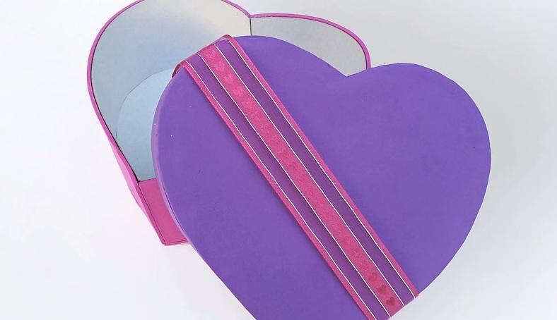 Cách làm hộp quà trái tim cho ngày Valentine