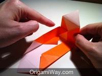 Hướng dẫn chi tiết cách gấp hộp giấy có nắp - Bước 9