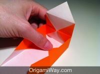 Hướng dẫn chi tiết cách gấp hộp giấy có nắp - Bước 10