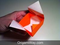 Hướng dẫn chi tiết cách gấp hộp giấy có nắp - Bước 11