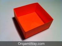 Hướng dẫn chi tiết cách gấp hộp giấy có nắp - Bước 12