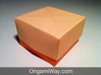 Hướng dẫn chi tiết cách gấp hộp giấy có nắp - Bước 13