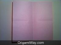 Hướng dẫn chi tiết cách gấp hộp giấy có nắp - Bước 1