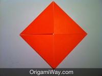 Hướng dẫn chi tiết cách gấp hộp giấy có nắp - Bước 2