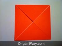 Hướng dẫn chi tiết cách gấp hộp giấy có nắp - Bước 3