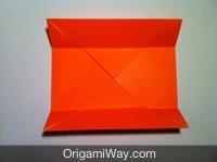 Hướng dẫn chi tiết cách gấp hộp giấy có nắp - Bước 4
