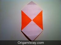 Hướng dẫn chi tiết cách gấp hộp giấy có nắp - Bước 5