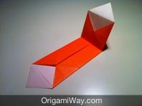 Hướng dẫn chi tiết cách gấp hộp giấy có nắp - Bước 8