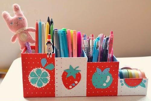 Cách làm hộp đựng bút bằng giấy ĐẸP nhiều ngăn tiện dụng