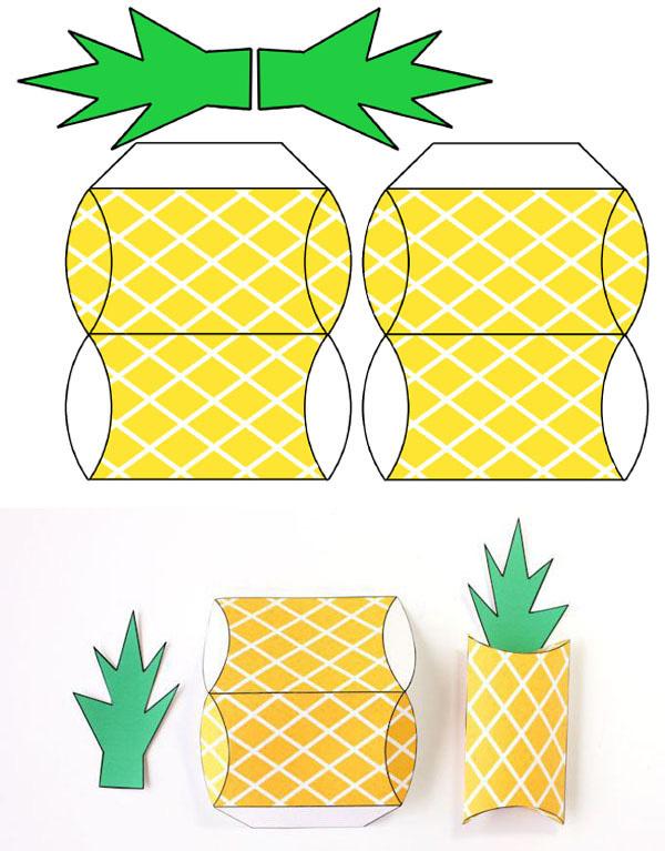 Cách gấp hộp quà trái dứa