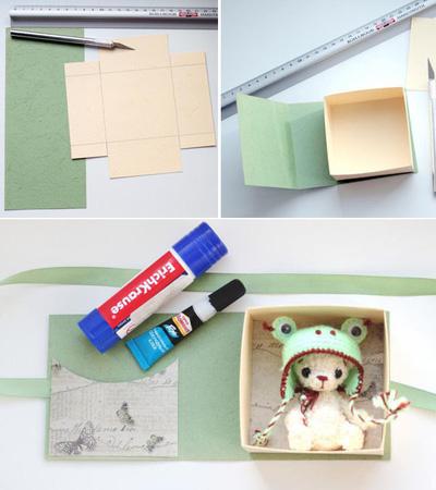 Cách gấp hộp quà vuông