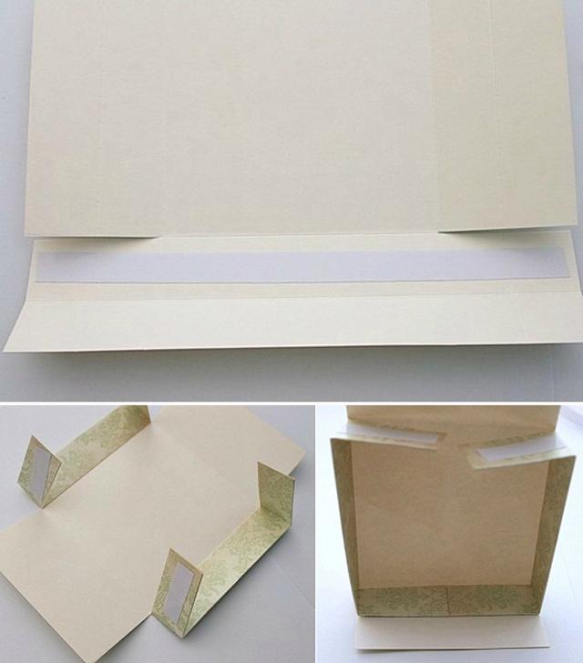 Cách làm hộp quà hình chữ nhật bằng bìa cứng đẹp - Bước 3