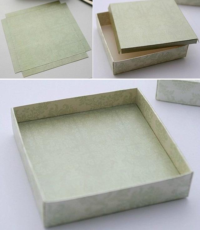 Cách làm hộp quà hình chữ nhật bằng bìa cứng đẹp - Bước 4