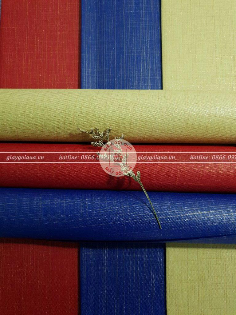 Giấy gói quà cao cấp chất liệu vải sọc
