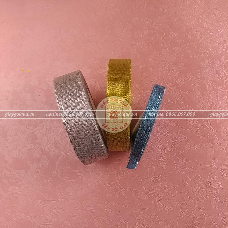 Ruy băng nhũ - kim tuyến 1cm