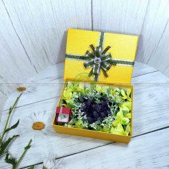 Hộp quà valentine xếp hoa trái tim HQ15 - Kích thước 23x17x7
