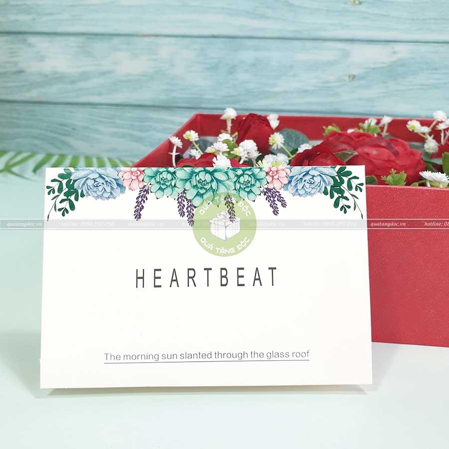 Thiệp valentine, thiệp 8/3 TM09 – HeartBeat