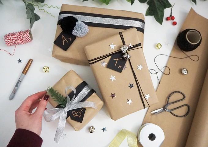 Gói quà với giấy Kraft