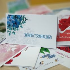 TM08 - Thiệp mừng Best Wishes