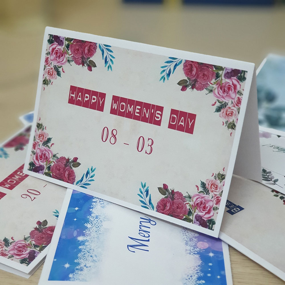 TM30 - Thiệp mừng 8-3 Happy Woman's Day