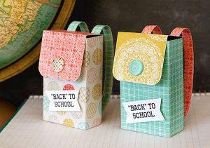 Hộp quà hình cặp sách siêu cute