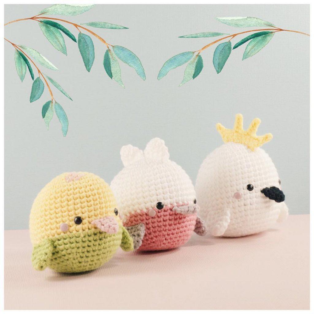 Thú bông đan móc bằng len độc đáo