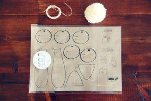 Vẽ hình từng bộ phận của hộp quà